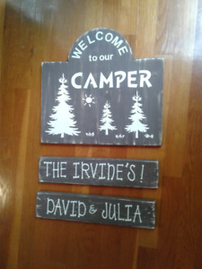 Wooden Weathered Signs