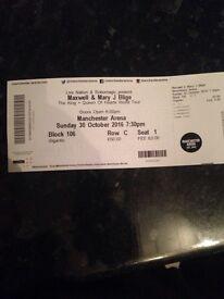 Mary JB & maxwell live tickets