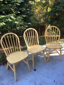 3 Nice Wooden Chairs
