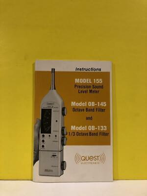 Quest Model 155 Sound Level Meter Model Ob-145 Ob-133 Octave Band Filter Manual
