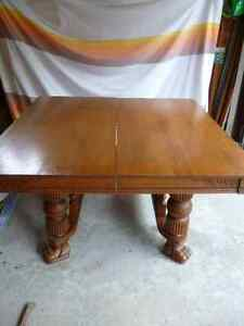 Oak Clawfoot table & 5 chairs Kawartha Lakes Peterborough Area image 2