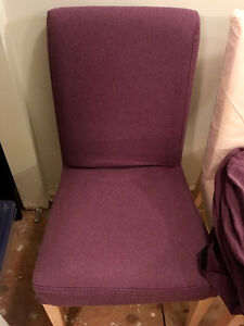 4 Ikea Henriksdal chair covers, purple