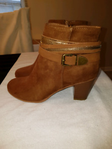Brand new synthetic suede boots