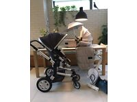 Pushchair Joolz + cot , footmuff, parasol, mosquito net and buggy board