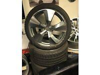 """Set of 4 21"""" alloy wheels alloys rims tyre tyres Audi Q7 Porsche Cayenne 5x130"""