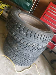 4 studded winter tires