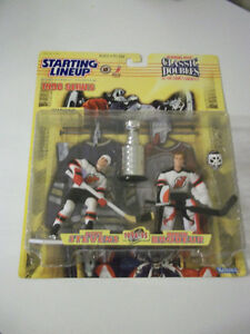 SCOTT STEVENS & MARTIN BRODEUR STARTING LINEUP HOCKEY FIGURES