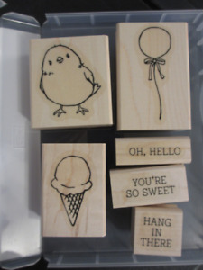 Stampin Up! wood stamps $7