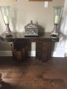 Mirrored coffee table set