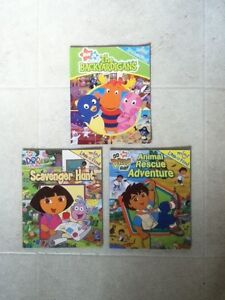 Small Look and Find Backyardigans, Dora, Diego Softcover Books
