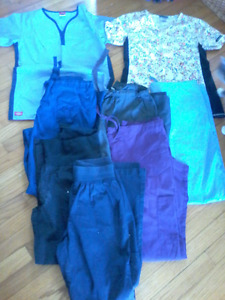 Lot of women's scrubs-size small