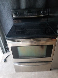 "Kenmore stainless steel 30"" electric glass ceramic top stove"