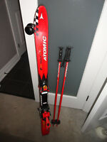 Atomic 110 Downhill Skis with Poles