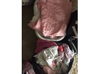 Jobs lot of 3-6month twin baby girls clothes