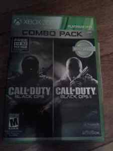 Jeux de XBOX 360,Call of duty Black ops 1 et 2