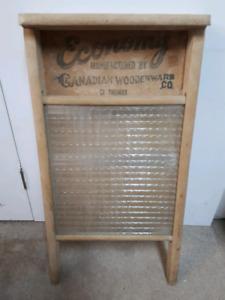 Vintage Glass Washboard