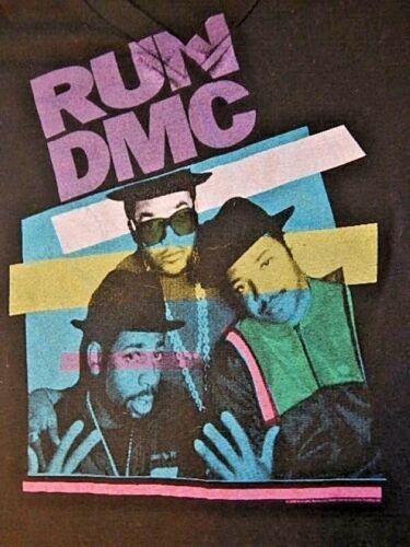 Rockware 2008 Anthill Run DMC Group Babydoll Black T Shirt Top Rap Hip Hop M