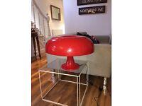 Red retro lamp