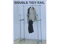 2 double hanging rails and 2 covers