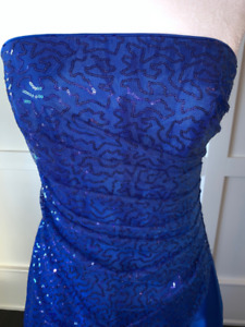 Formal Dress, Royal Blue, Worn Once, Like New fits sz 4-6