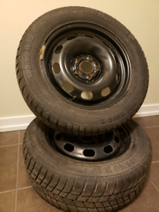 Winter tires and rims that fit hondas, vws,  and many more
