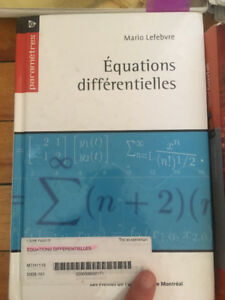 MTH1115 - Equations Differentielles