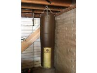Domyos heavy leather punch bag.