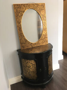 utility cabinet with mirror