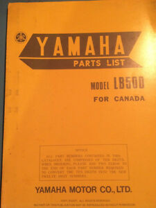 1977 Yamaha LB50D Parts List