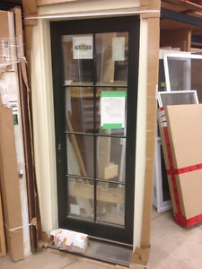 "BRAND NEW 32x80"" Norwood French Exterior Garden Door /w Grills"