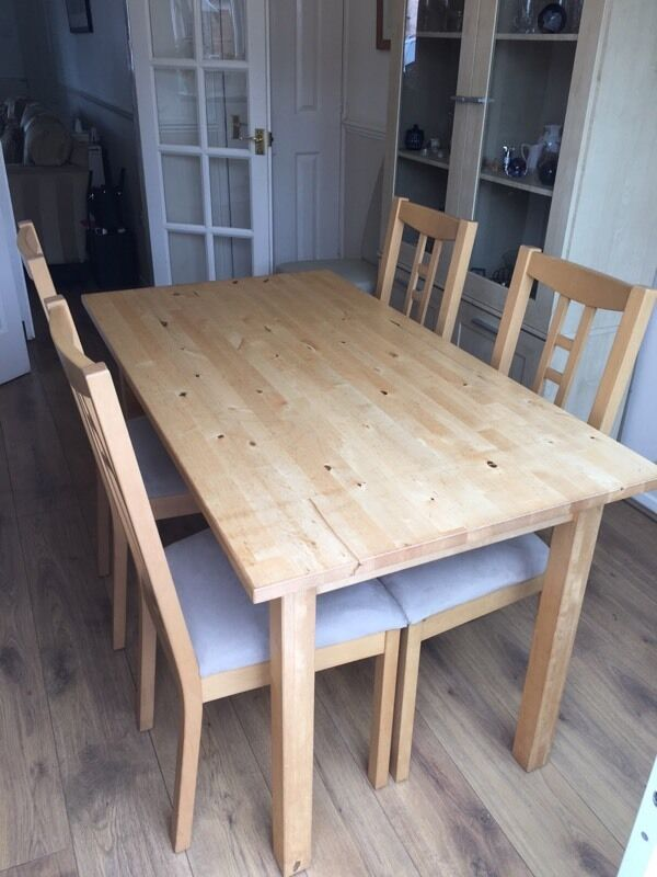 Ikea Dinning table and chairs in Stamford Lincolnshire  : 86 from www.gumtree.com size 600 x 800 jpeg 63kB