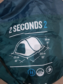 2 seconds 2 man tent FREE collection only URMSTON