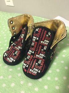 RocaWear Black Baby Shoes Edmonton Edmonton Area image 1