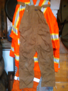 Work overalls and reflecting coverall