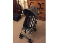 Maclaren Triumph Grey Folding Buggy Pushchair with Toddle Tug and Rain Cover