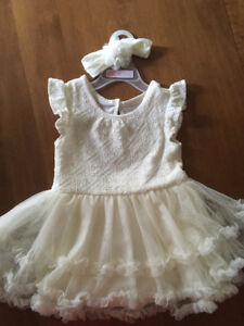 Ivory christening or flower girl dress