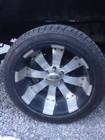 """20"""" rims and tires"""