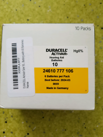 48 duracell size 10 hearing aid batteries