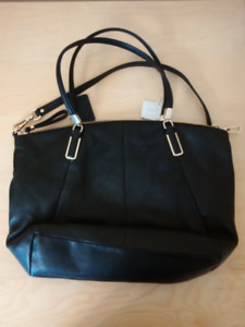 NEW COACH FACTORY BLACK LEATHER BAG