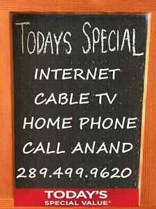 INTERNET,  UNLIMITED INTERNET, CABLE TV, PHONE,  BUNDLE