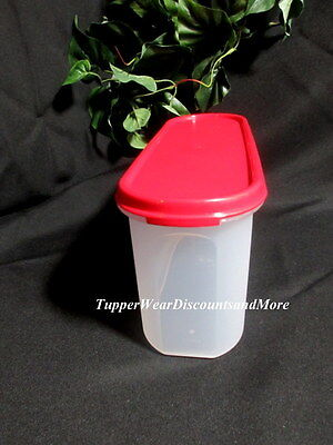 Tupperware NEW Modular Mates Super Oval # 2 Container Popsicle Red Seal