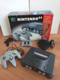 Nintendo 64 console boxed + star wars game