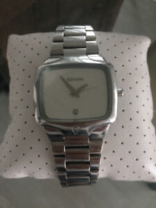 Nixon - The Player silver white face with diamond men's watch