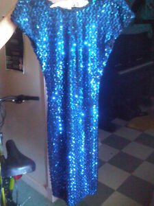 FABULOUS BLUE SEQUENNED DRESS