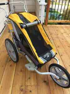 Chariot jogger with ski and bike attachment