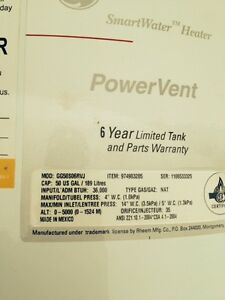 GE hot water heater parts