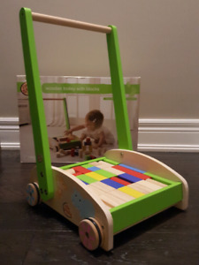 Wooden Trolley with Blocks