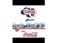 Jingle Bell Ball Tickets X 5 Saturday 3rd BLOCK A2