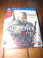 PS4 The Witcher 3 Preorder package with bonus content (Unopened)