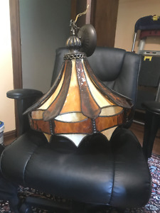 Vintage Stained Glass Chandelier/Light Shade
